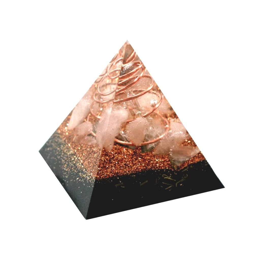 Orgonite Copper Rose Pyramid