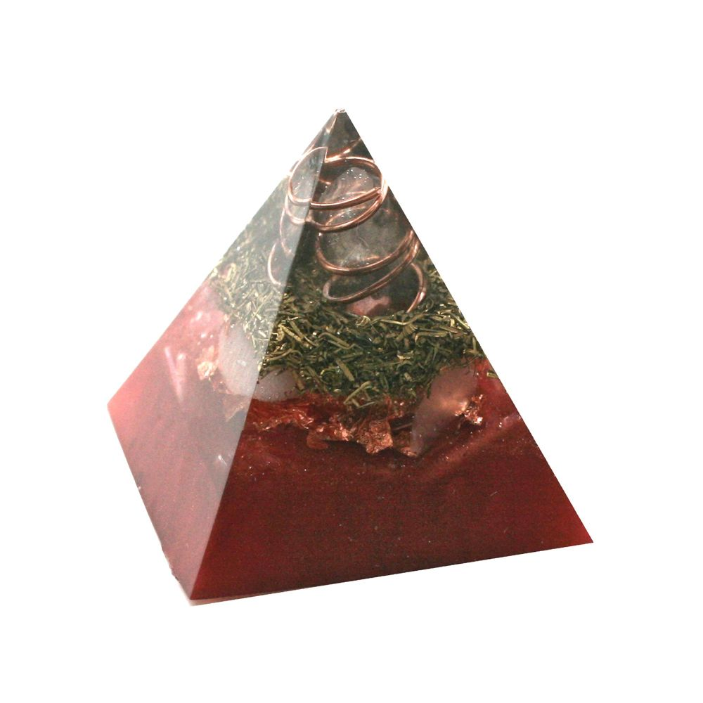 Orgonite Selenite Cleansing Pyramid