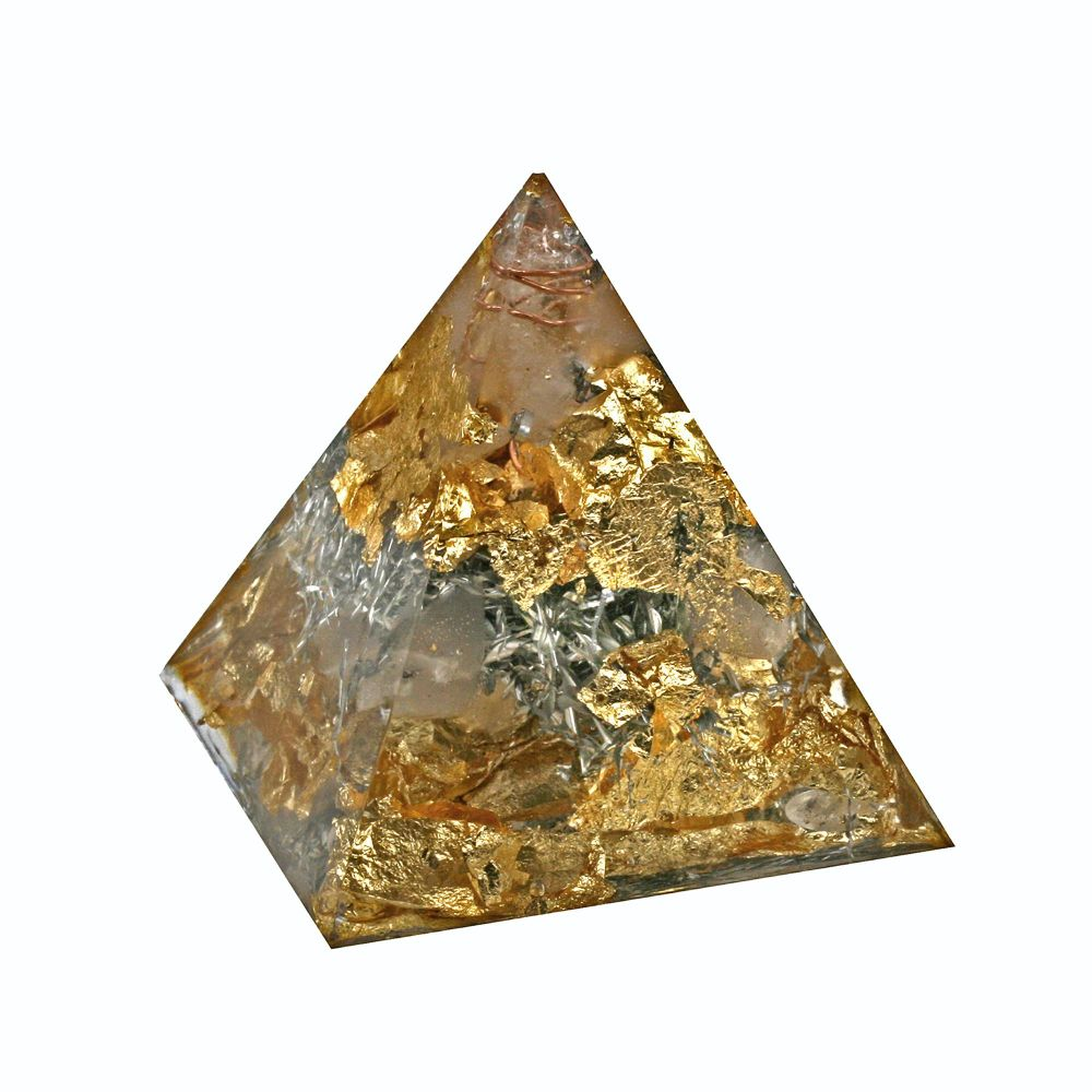 Orgonite Golden Pyramid