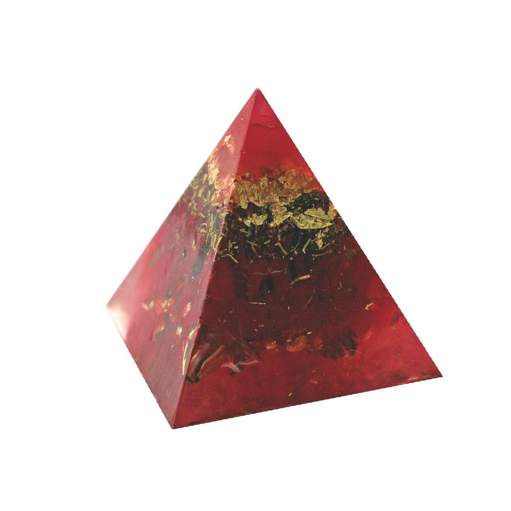 Orgonite Golden Heart Pyramid