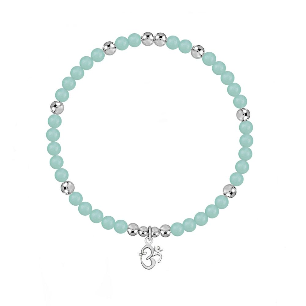 OM Stretch Amazonite Bracelet