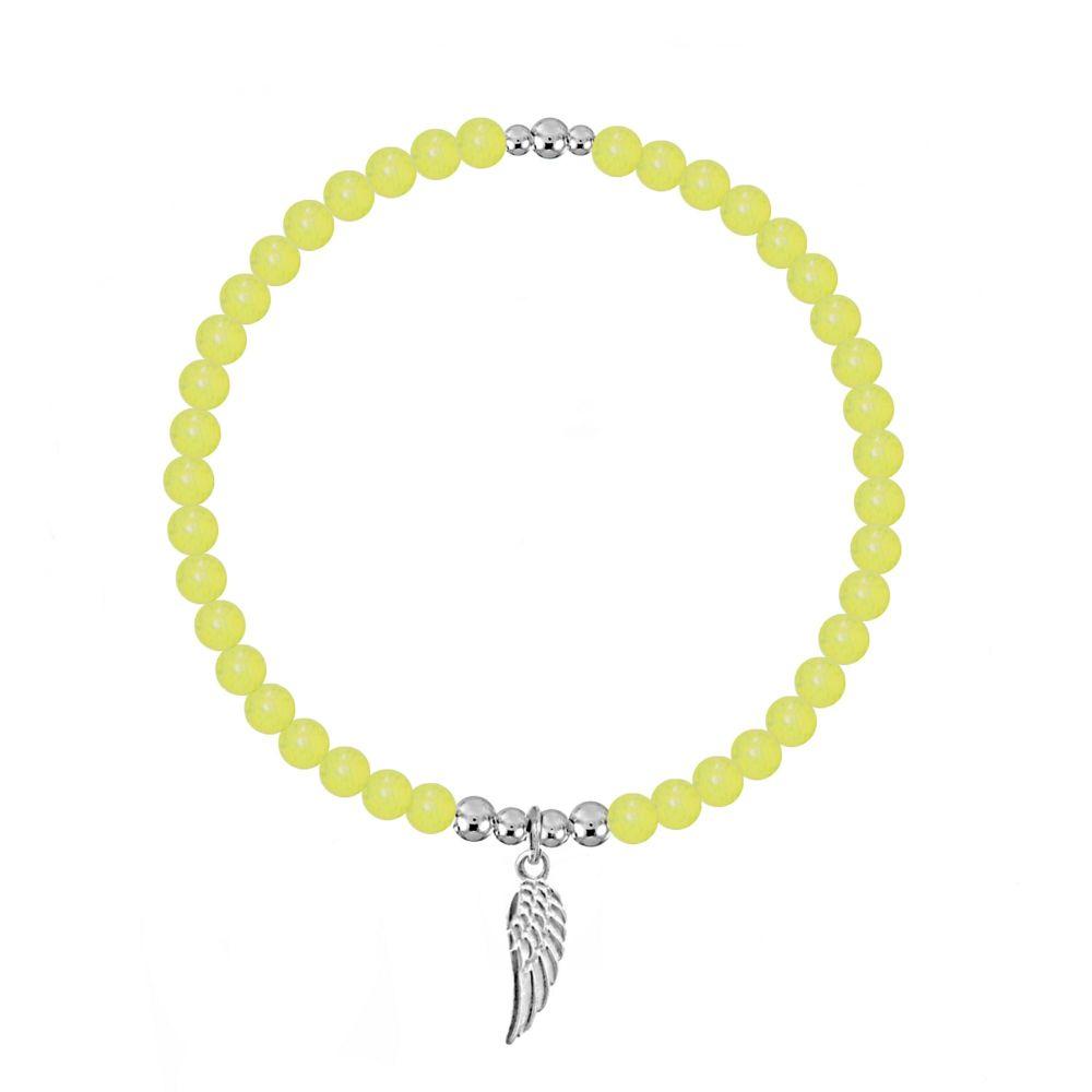 Angel By My Side Stretch Yellow Jasper Bracelet