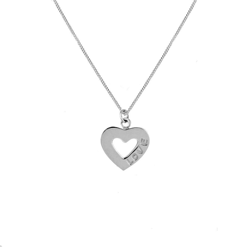 Harmony Love Heart Silver Necklace