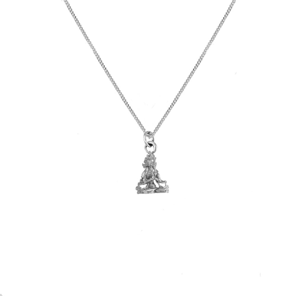Compassion Buddha Silver  Necklace