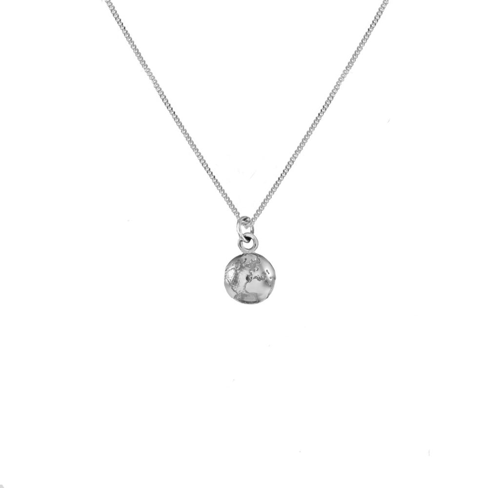 Peace Globe Silver  Necklace