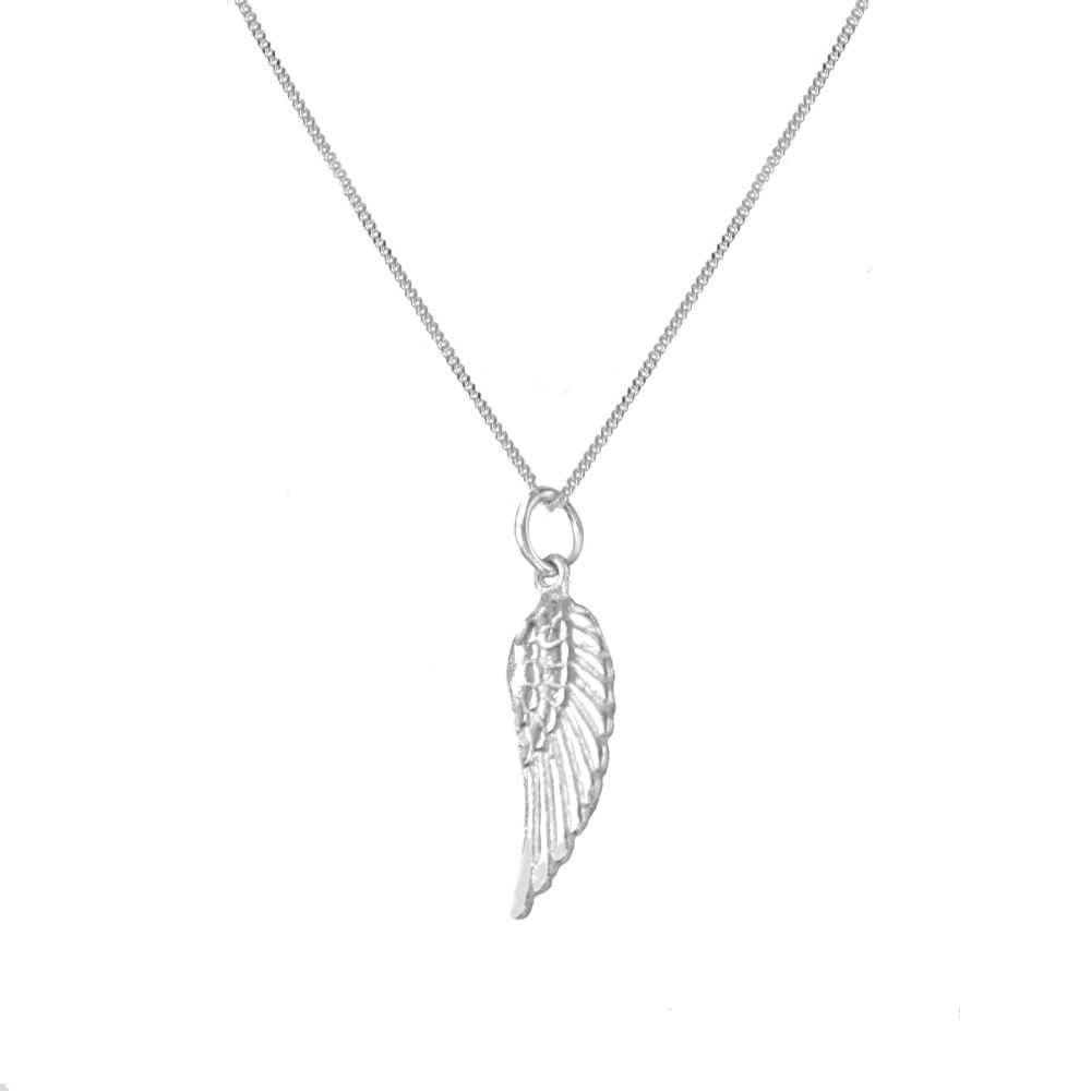 Angel By My Side  Silver Necklace