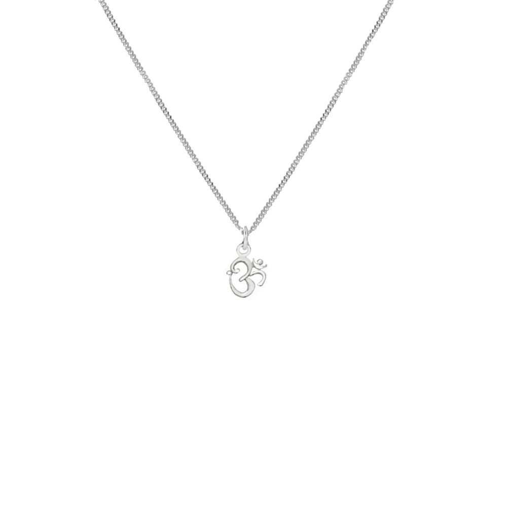 OM Silver Fine Necklace