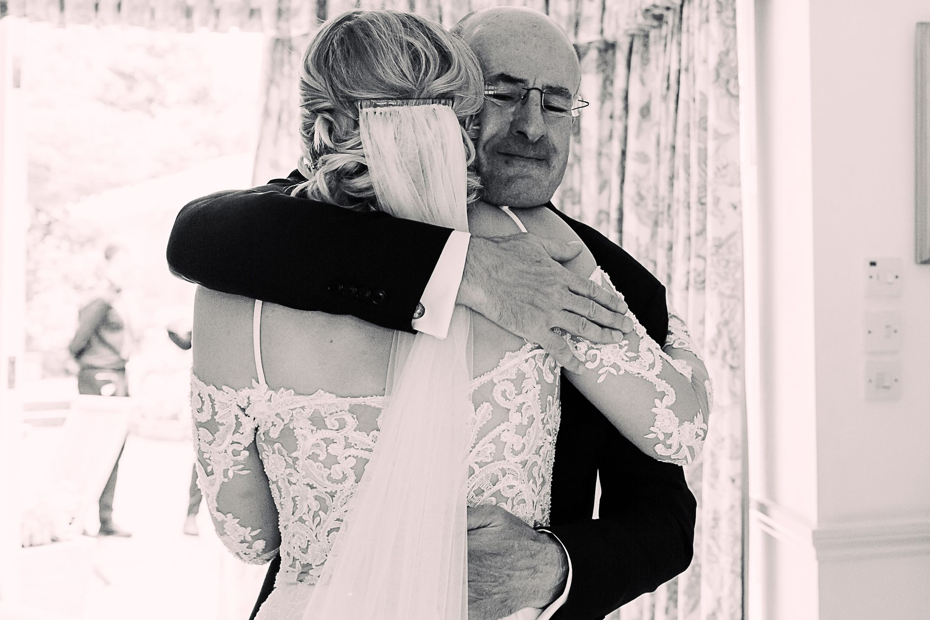 Dad and daughter wedding photography