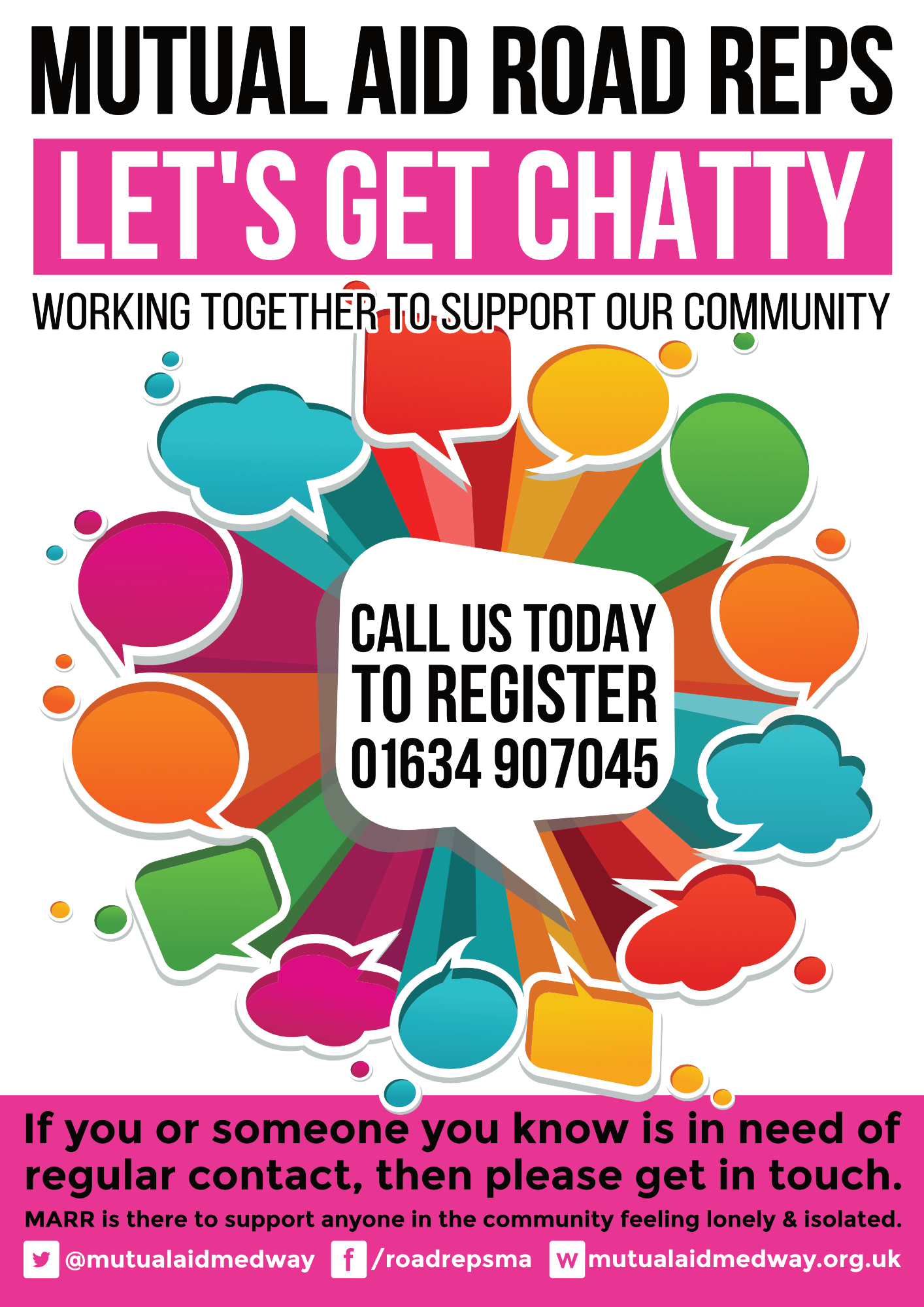 Register today forfor our Let's Get Chatty service
