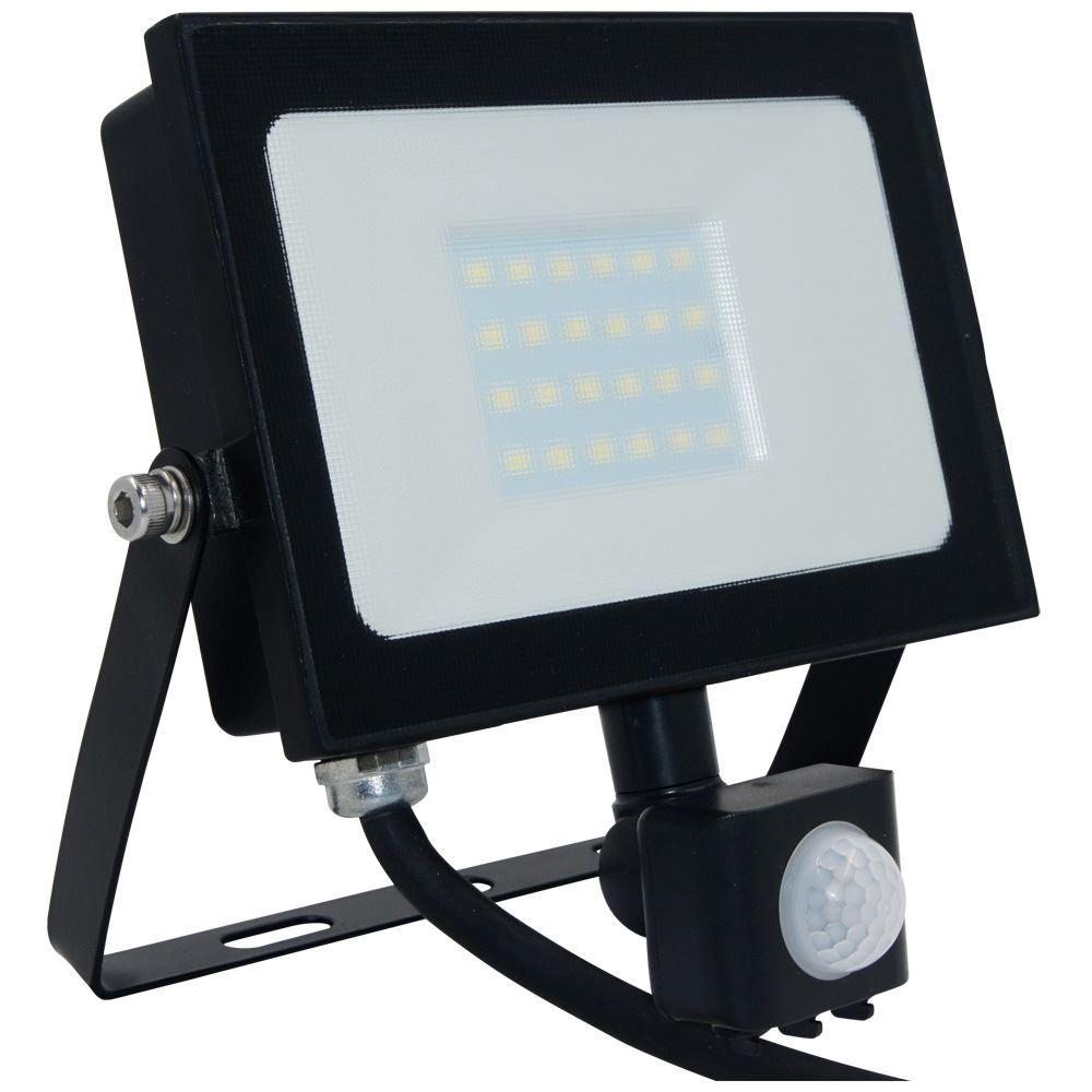 Atlas 20W IP66 Mini Floodlight Black with PIR 4000K