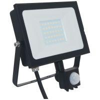 Atlas 30W IP66 Mini Floodlight Black with PIR 4000K