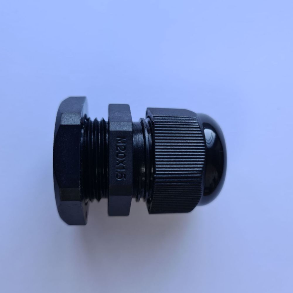 M20 Black Metric Cable Gland 6-12mm