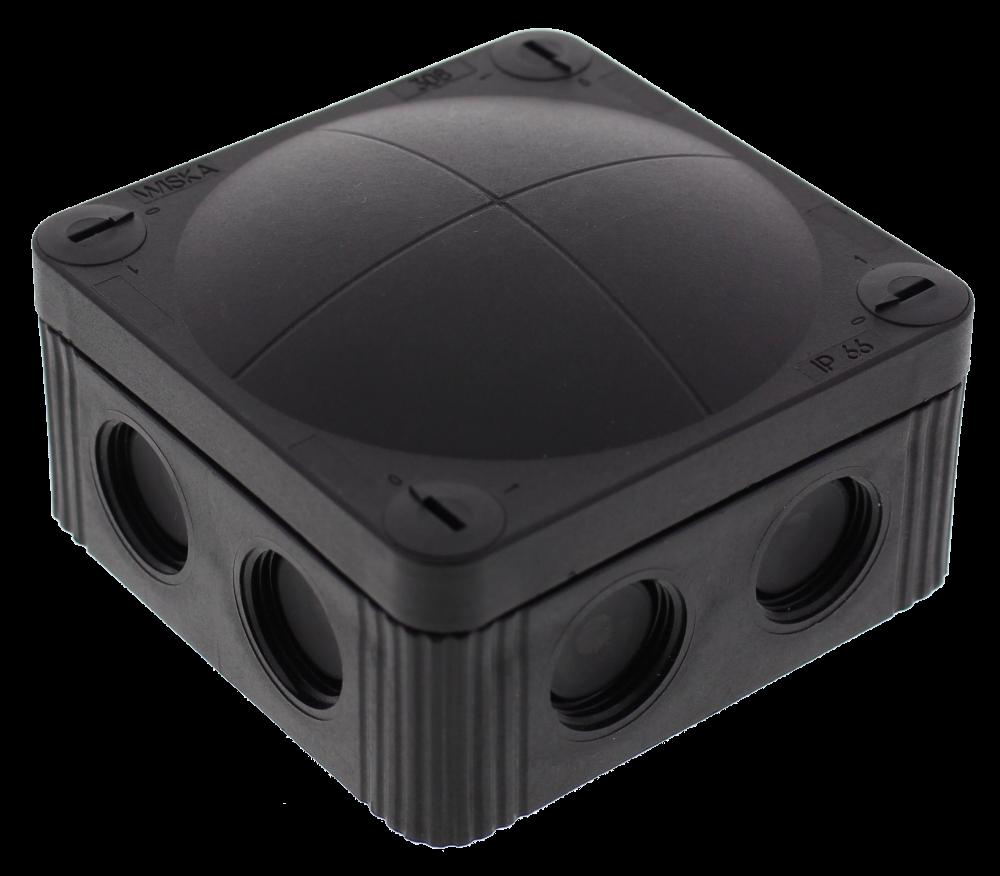 Wiska COMBI 308/5 BK Junction Box 85X85X51 Black