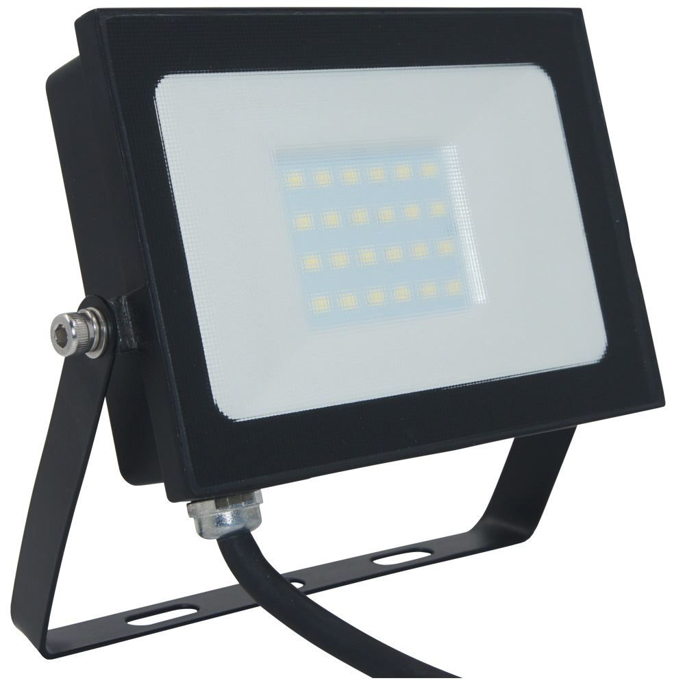 Atlas 20W IP66 Mini Floodlight Black 4000K