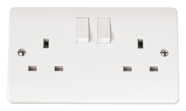 2 Gang 13A Switched DP Socket Outlet