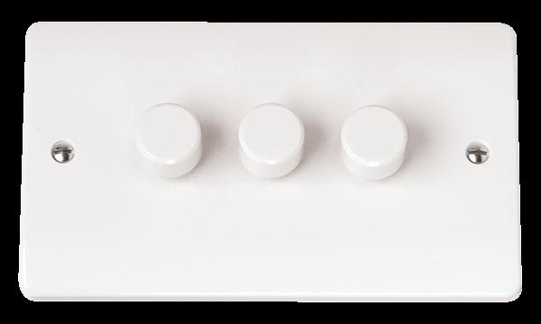 Mode 3 Gang 2 Way 250VA Dimmer Switch