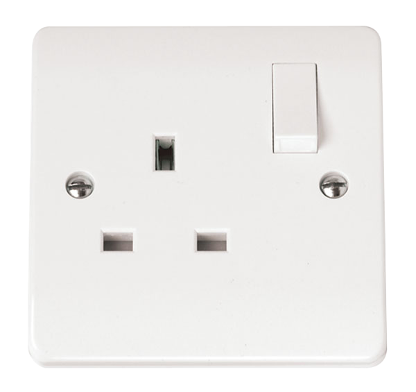Mode 1 Gang 13A Switched DP Socket Outlet