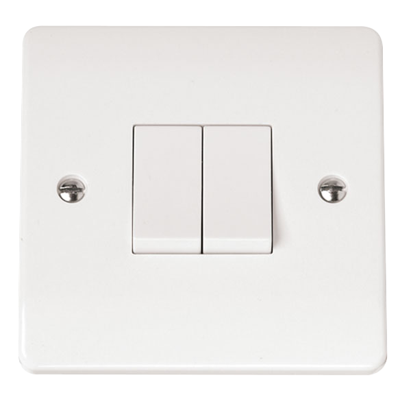 Click Mode 2 Gang 2 Way 10A Plate Switch