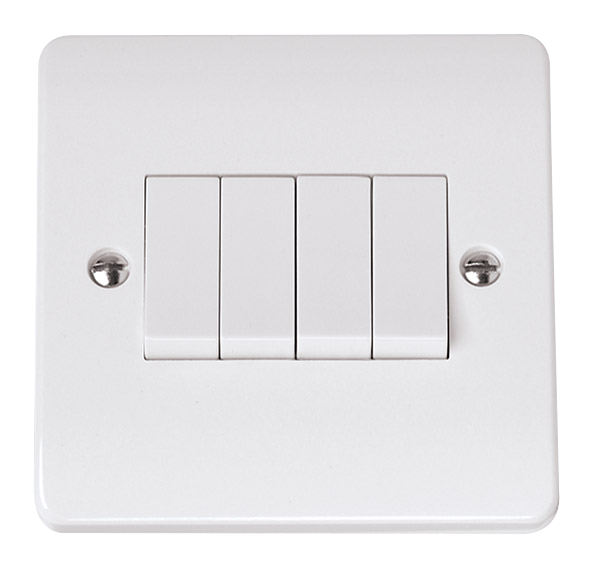 Click Mode 4 Gang 2 Way 10A Plate Switch