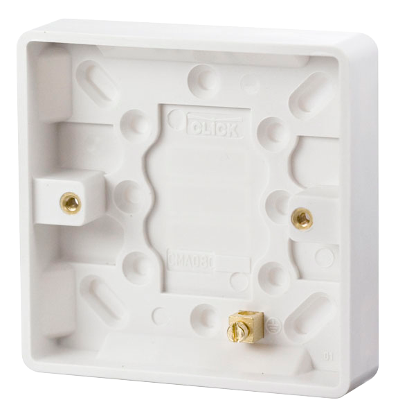 Mode 1 Gang 16mm Switch Pattress Box
