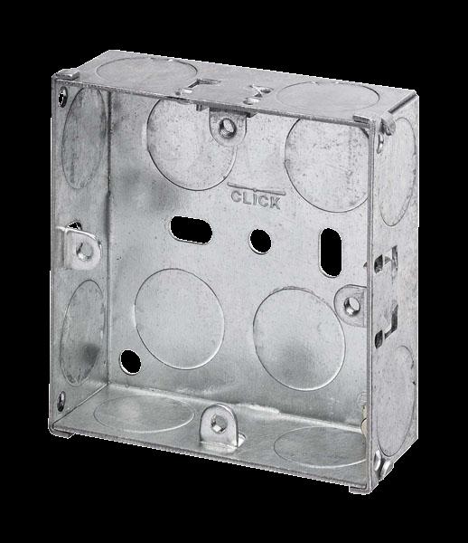 1 Gang 25mm K/O Galv Metal Box