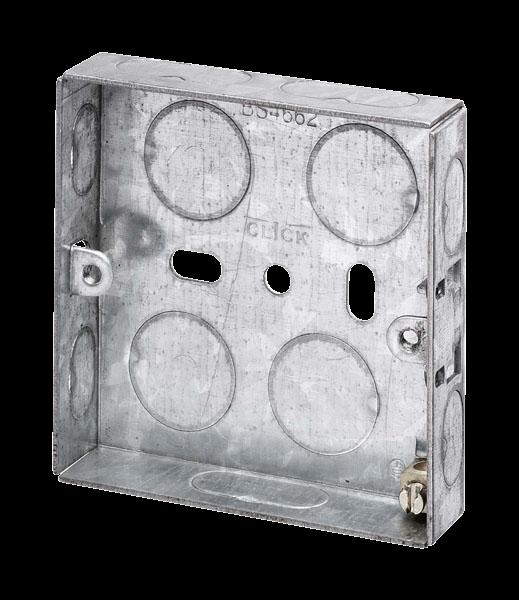 1 Gang 16mm K/O Galv Metal Box