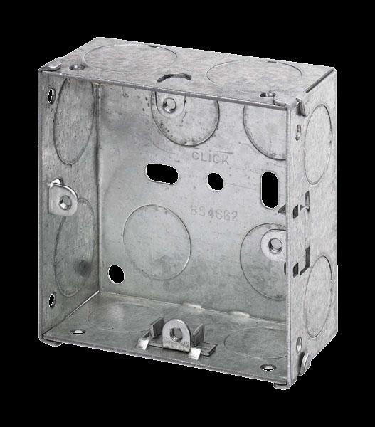 1 GANG 35MM K/O GALV METAL BOX