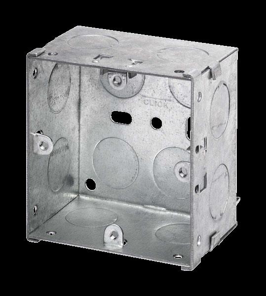 1 GANG 47MM K/O GALV METAL BOX