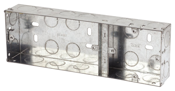 1+2 DUAL 35mm K/O METAL BOX GALV