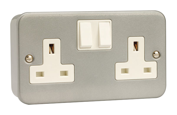 13A 2 Gang Double Pole Switched Socket Outlet