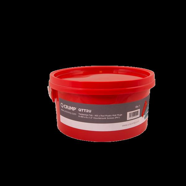 RED PLUGS AND 400 x 1 1/2 No 8 SCREWS (QTT2U)