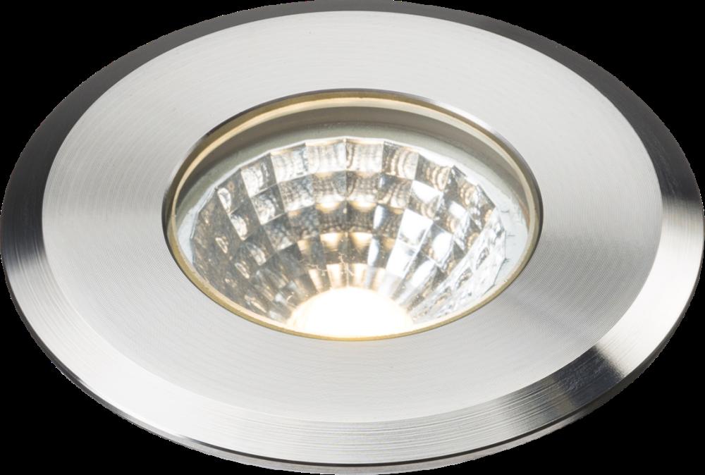 230V IP65 5W 3000K LED Stainless Steel Recessed Ground Light
