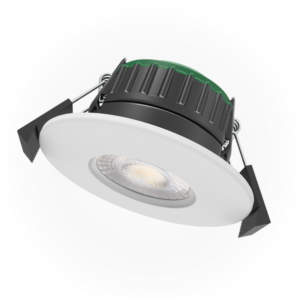 Avon Fire Rated 4CCT Downlight with White Bezel
