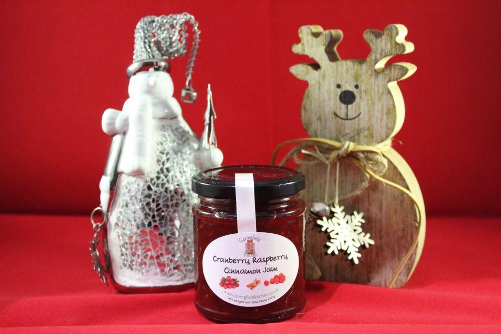 Cranberry, Raspberry, Cinnamon Jam