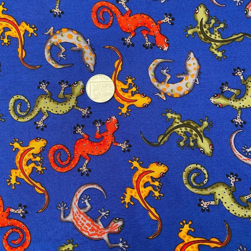 Lizards on Blue