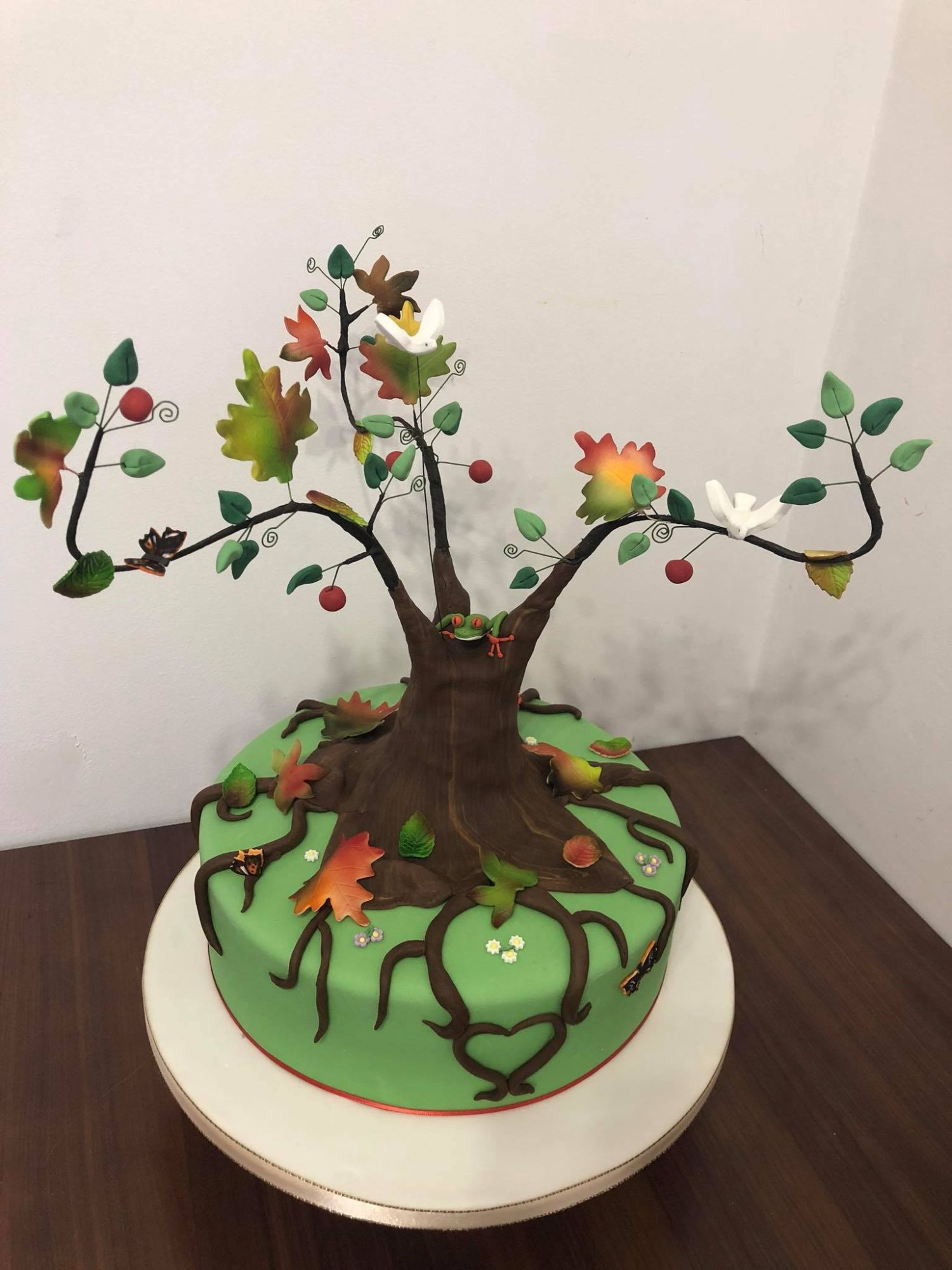 Tree of Life Cake for a Wake