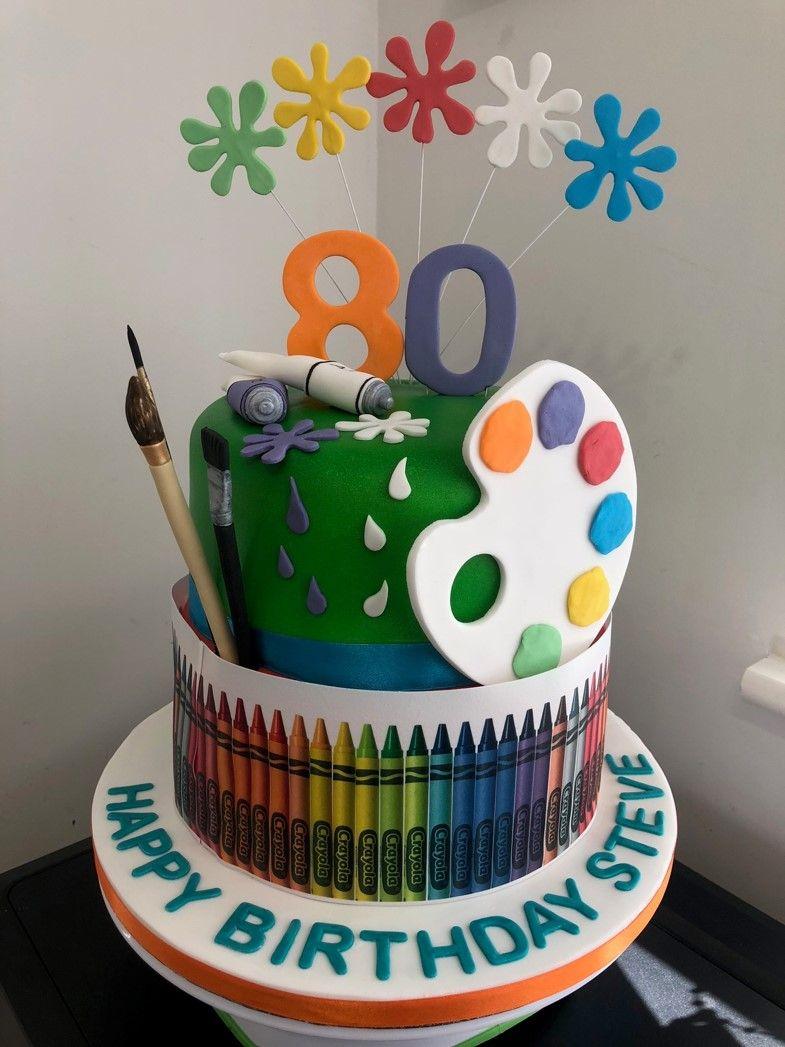 Drawing & Painting Cake