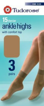 15 denier ankle highs with comfort top