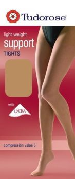 light weight support tights with lycra® with gusset