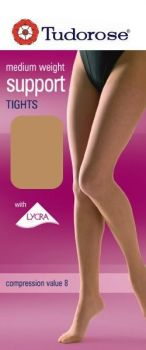 medium weight support tights with Lycra® with gusset