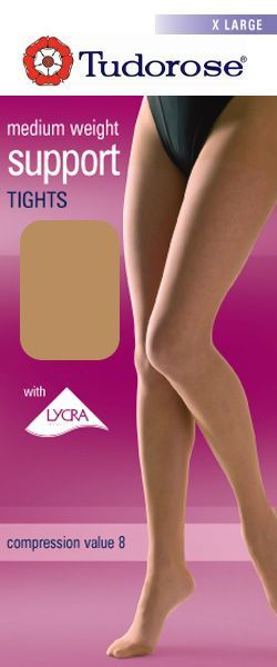 XL Medium weight support tights with Lycra®