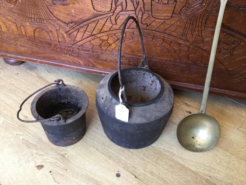 Vintage smelting pot