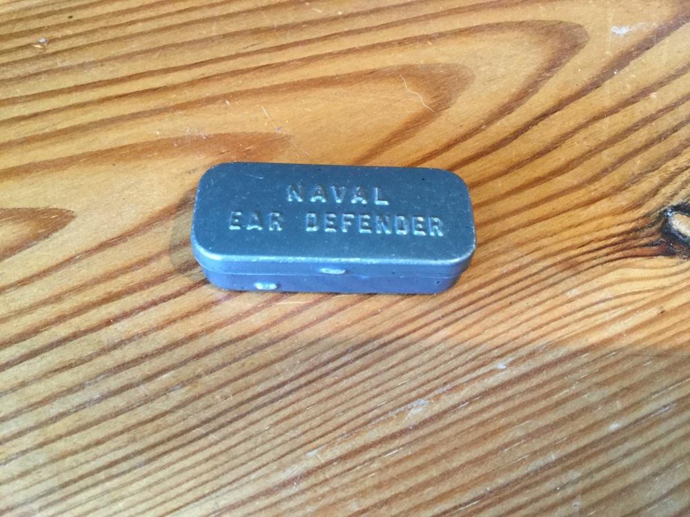 Vintage Naval Ear Defender Tin