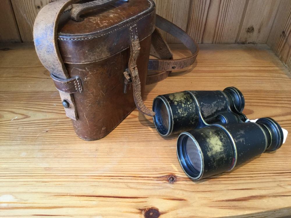 Vintage French Navy Binoculars