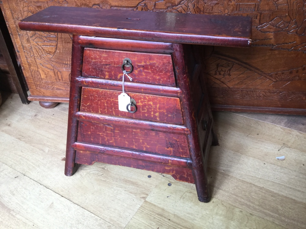 Antique Oriental Barbers stool