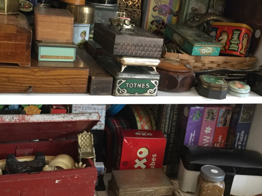 Vintage tins and boxes