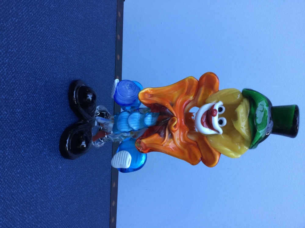 Another vintage glass clown