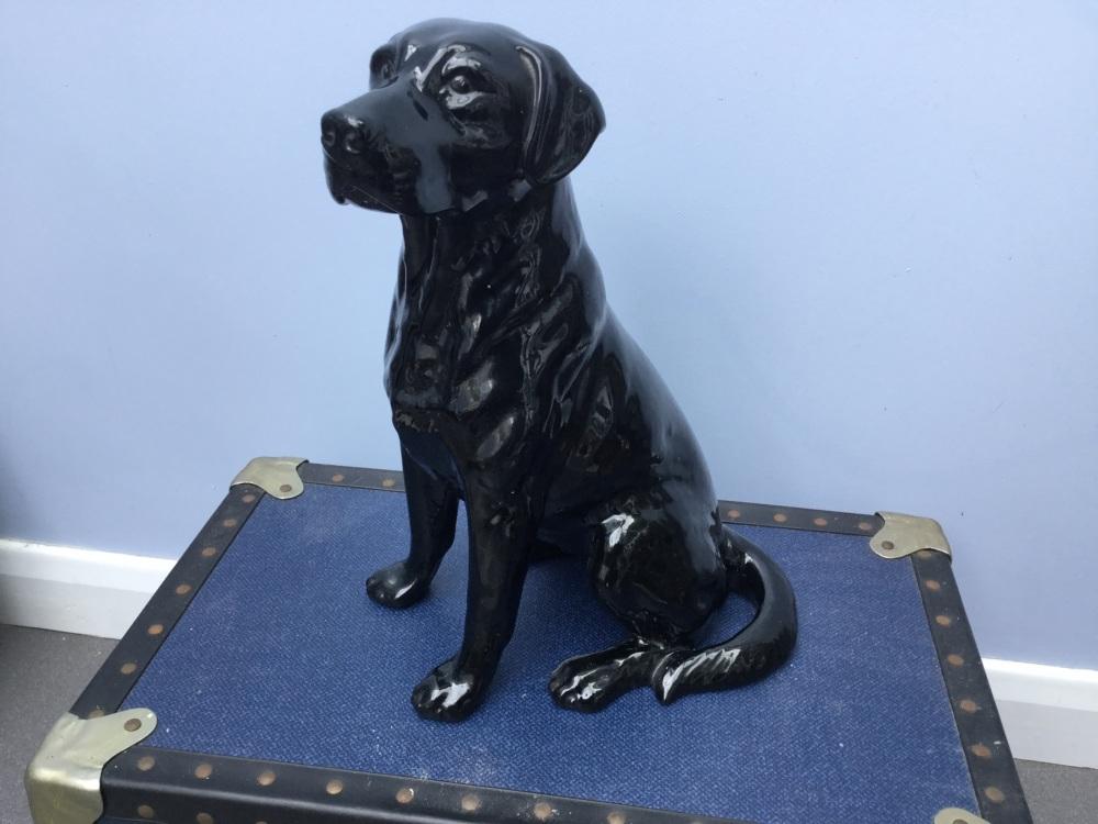 Beswick fireside black Labrador