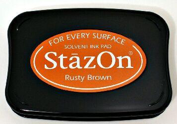 Rusty Brown Stazon ink Pad (plastic, metal, glass, postage bags etc)
