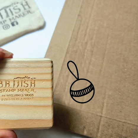 Bauble lines stamp